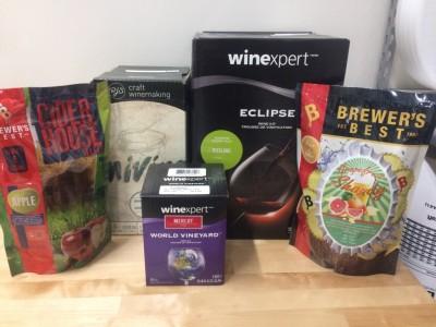 Wine, Cider & Shandy Ingredient Kits